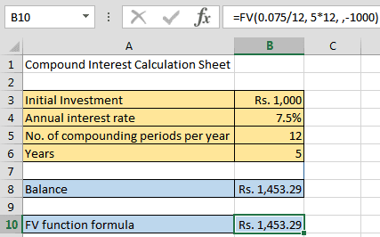 Compound Interest Formula in Excel-6