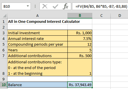 Monthly compound interest excel template | najbov.