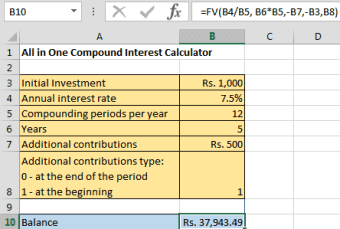 Compound Interest Formula and Excel Calculator