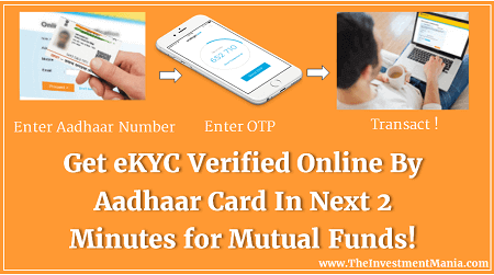 Get eKYC Verified Online By Aadhaar Card In 2 Minutes | Mutual Funds